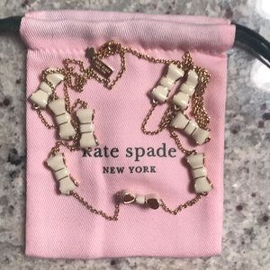 EUC kate spade necklace with cream bows